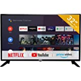 RCA RS32H2 Smart TV (32 Pouces HD-Ready Android TV avec Google Assistant, Google Play Store, Prime Video, Netflix) HDMI, USB,