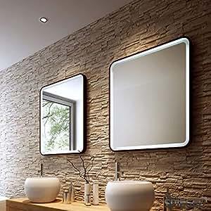 badezimmerspiegel prego ii wandspiegel mit led beleuchtung 80 x 90 cm baumarkt. Black Bedroom Furniture Sets. Home Design Ideas