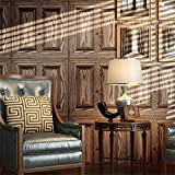 AIKE Tapeten-Modernes unbedeutendes Planken-Muster 3D prägeartige Tapeten-Rollen-Wohnzimmer/Schlafzimmer / Fernsehwand/Kinderschlafzimmer, A