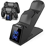 OIVO Ricarica Controller PS4, Caricatore Rapido per Joystick PS4 con Indicatore LED, Base di Ricarica Doppia per Sony Playsta