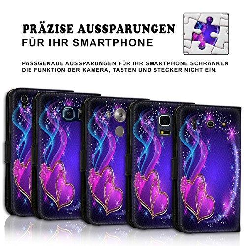 Wallet Book Style Flip Handy Tasche Case Schutz Hülle Schale Motiv Etui für Apple iPhone 5 / 5S - Variante UMV2 Design12 Design 10