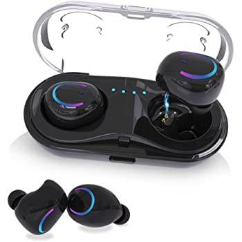 d457dc1cf40 Wireless Earbuds, KNGUVTH Bluetooth Headphones V4.2 Mic Earpieces True  Wireless Stereo Hands Free