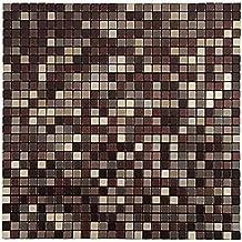 Royllent Modern Klebe Fliesen, Mosaik Muster, Metall Optik, Aluminium,