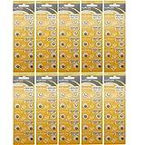 suncom Batería Uso Individual LR626 SR626 Lr66 V377 Gp377 606 del Reloj de mandos a Distancia Juguetes Cámaras (100 Piezas) Ag4 alcalinas DE 1,5 V Botón de la Célula