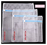 Andeya Lingerie Laundry Mesh Wash Bag - For delicate washing (Pack of 3)