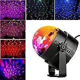 Blingco Mini LED Licht Rotation Automatisch Bühnenbeleuchtung 3W RGB Sprachaktiviertes Kristall Magic Ball Bühnenlicht für DJ Disco Ballsaal KTV Stab Stadium Club Party