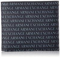 Portafogli uomo Armani Exchange in pelle blu scuro navy logata. Scomparti porta banconote e porta tessere. Sacca protettiva logata. Le misure di questo modello sono: altezza 8cm , larghezza 10cm , spessore 2cm.
