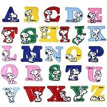 CHENGYIDA - 26 unidades de parches de Snoopy con las letras del alfabeto - Para planchar