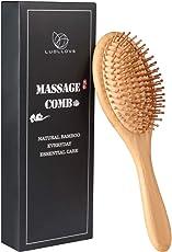 Haarbürste,LUOLLOVE Paddle Brush mit Natürlichen Borsten,AntistatischBambus Bürste,Geschenke Styling Haarbürste für Männer,Frauen und Kinder(B Art)