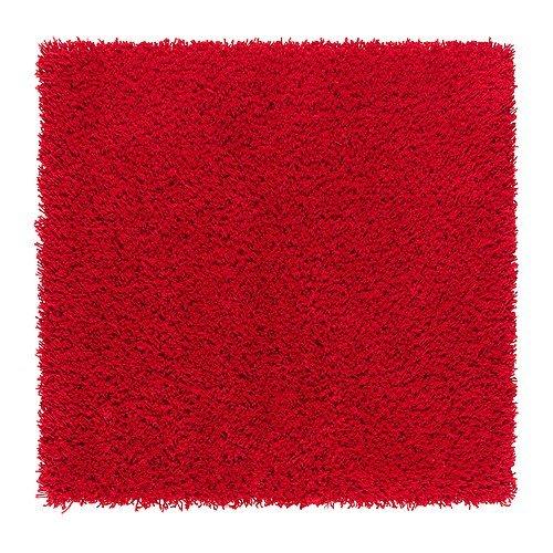 Ikea Hampen Tapis Poils Longs Rouge 80 X 80 Cm