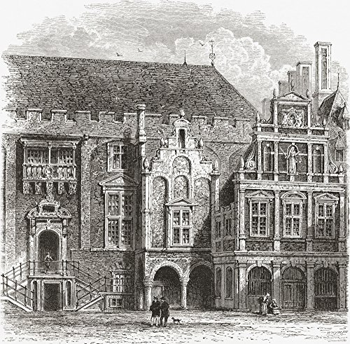 Ken Welsh/Design Pics - The Town Hall Grote Markt Haarlem The Netherlands In The 19Th Century. from Pictures from Holland by Richard Lovett Published 1887. Photo Print (38,10 x 38,10 cm) -
