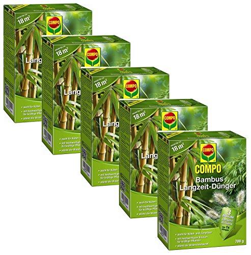 Oleanderhof® Sparset: 5 x COMPO Bambus Langzeit Dünger, 700 g + gratis Oleanderhof Flyer