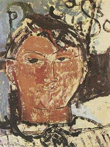 1art1 58476 Amedeo Modigliani - Bildnis Pablo Picasso, 1915, Detail Poster Kunstdruck 107 x 80 cm -