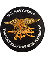 US Marine Navy Seals The Only Easy Day Was Yesterday SOCOM DEVGRU Fastener Écusson Patch
