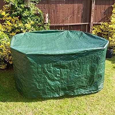 Savisto Large Round All Weather Patio / Garden Outdoor Furniture Cover - 1900 x 800mm