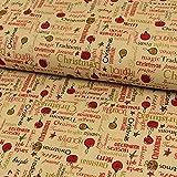 Dekostoff Weihnachten Schriftzüge beige Canvas - Preis