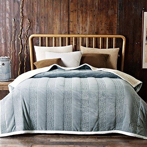 Preisvergleich Produktbild Wddwarmhome Vier Jahreszeiten Warme Decken Wohnzimmer Sofa Decke Schlafzimmer Bettdecke Weiche und komfortable Einfarbige Decke Wolldecke ( Farbe : Beige , größe : 180*200cm )