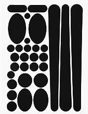 NiceButy Fahrrad-Sticker/Sticker für Fahrrad, Einfache Rahmen, Schwarz