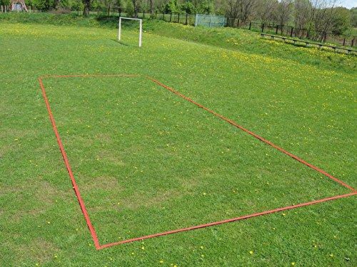 Marko II - Badminton Court Linien 13,4 x 5,6m - breite 4cm Spielfeldmarkierung Verstellbares Einzel-Doppelspiel Spiel