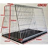 Jaula de perro media 82 cm cajón de guardia diseñado para coches con puerta de maletero y coche familiar
