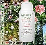 200ml Babyöl, zur unterstützenden Pflege bei Windeldermatitis, Dermatitis, Windelausschlag, angegriffene Babyhaut. Naturprodukt.