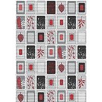 ID Mate SMRL06515 Marcos Alfombra Multiusos de Espuma de PVC, Color Rojo/Negro,