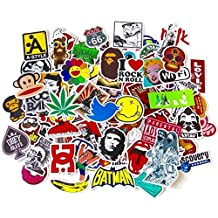 stickerfactory (100 unidades) mejor vinilo pegatinas – Pack de todos los estilos de diferentes surtidos – para portátil Macbook monopatín, tabla de snowboard Equipaje iPhone Car Bike Bumper pegatinas Bomb Pack – Adhesivo en Retro Pop Art Graffiti Super Cool