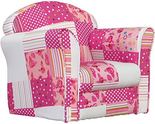 Kidsaw - Minisofá, diseño de Retazos, Color Rosa