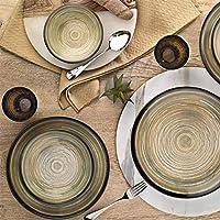 Kütahya Porselen Teos Nano 24 Parça Yemek Takımı Krem Nano 1/DG14-891001, 6 Kişilik Yemek Seti