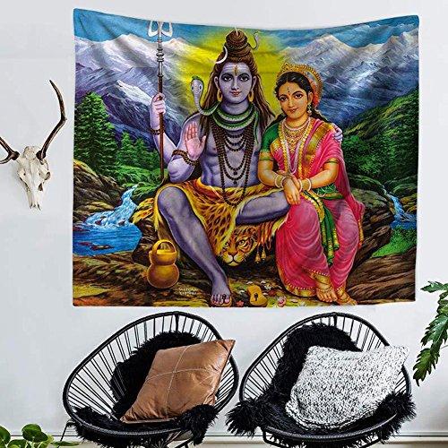 qcwn Wandteppich für mit Indien Buddhismus auf Home Dekoration als perfekte Geschenk für Schlafzimmer und Wohnzimmer, Polyester, 4, 78Wx59L