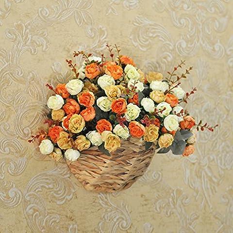 American idillio rurale emulazione kit fiore soggiorno fiori artificiali bouquet di fiori di seta tappezzerie parete rose rosa ,30*29cm, ,30*29cm orange