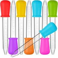 Senhai 8 Pezzi Droppers liquidi  Silicone e Pipette di plastica Trasferimento contagocce con Punta di Lampadina per l  39 olio di Caramelle Bambini cucinanti di Gomma   7 Colori