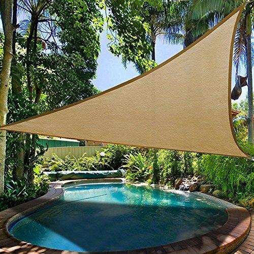 LEISURE TIME Garten Sonnenschutz Segel-Überdachung, Dreieck-im Freiengarten Patio Partei Sonnenschutzmittel Markise Überdachungs Swimmingpool (3m*3m)