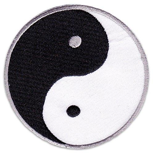 Yin & Yang Aufnäher Aufbügler Patch Yogi Buddhismus Hinduismus Kampfsport Meditation (Klein)