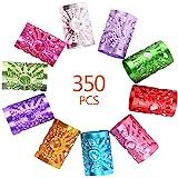 350 PCS 7 Colores Puños de Metal con Rastas, Cuentas de Trenzado de Pelo, Puños Metálicos Resistentes Ajustables para el Cabe