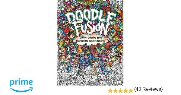 Doodle Fusion Zifflins Coloring Book Volume 2 Amazoncouk Zifflin Lei Melendres 9781517376918 Books