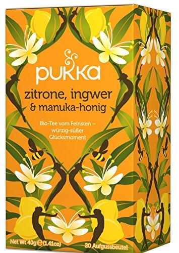 Zitrone, Ingwer & Manuka-Honig PUKKA Tee BIO 4 Packungen à 20 Teebeutel Honig-zitrone-ingwer