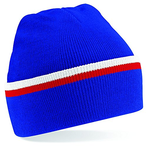 Beechfield - Bonnet - Homme Bleu - Bright Royal/ Classic Red/ White