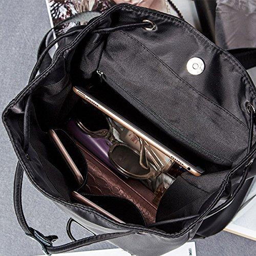 una nuova borsa di cuoio signore lo zaino,black violet