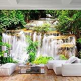 decomonkey | Fototapete Wasserfall 250x175 cm XL | Tapete | Wandbild | Wandbild | Bild | Fototapeten | Tapeten | Wandtapete | Wanddeko | Wandtapete | Natur Wald Baum Landschaft