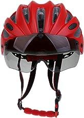 MagiDeal Wind Cross Road Mountain Bike Safty Helmet, Bicycle Motorcycle Adult Mens Womens Shockproof Helmets - red