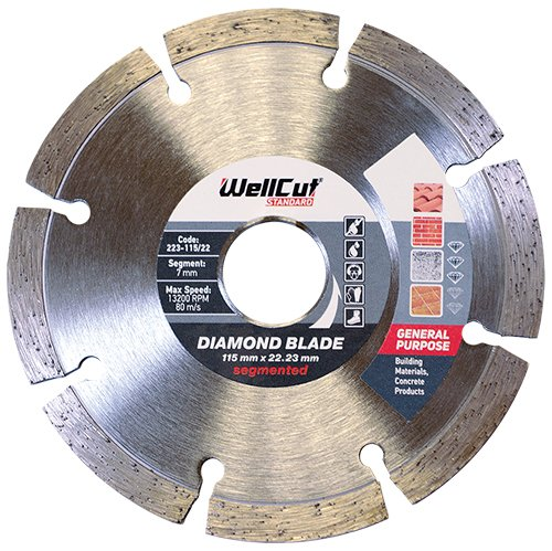 Wellcut Segmentierte Diamant Trennscheibe Klinge, Ultra Thin & High Precision Verwendet In Beton,...