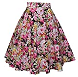 : Crazycatz® Vintage Fifties Style Floral Full Circle Skirt