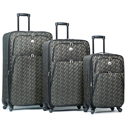 19335ef9ac Hipack 3-Piece Spinner Expandable Luggage Set