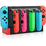 RunSnail Laddningsstation docka kompatibel med switch Joy-Con, 4-i-1 laddningsstativ med LED-indikator