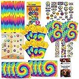 Amscan 60er Jahre Hippie Rainbow Party Set XL 81-teilig für 8 Gäste 60ies Deko Partypaket