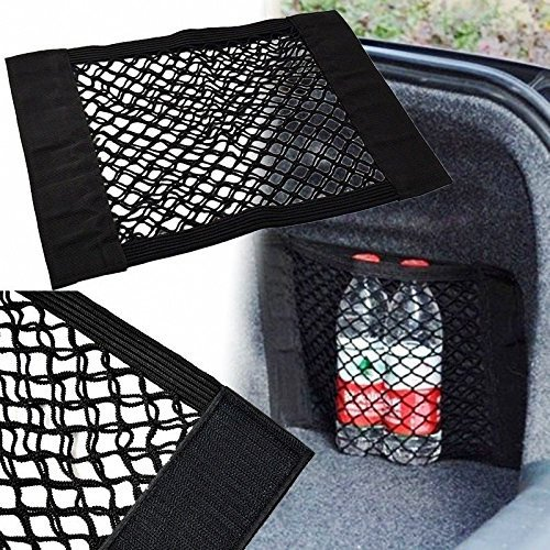 Preisvergleich Produktbild Goldfox Schwarze Universal-Autositzrückentasche KFZ Netztasche Auto Einkaufsnetz Speicher Beutel Schutt Lagerung Magic Sticker Luggage Mesh Oganizer Bag