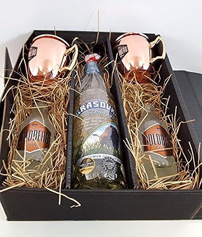 Moscow Mule Set / Geschenkset - Grasovka Büffelgras Vodka 70cl