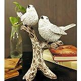zart 2 Birds Sitting On Tree Branch Figurine Home Decor Gift Polyresin Statue,Vaastu, Fang sue,Traditional, Handmade, Miniatu