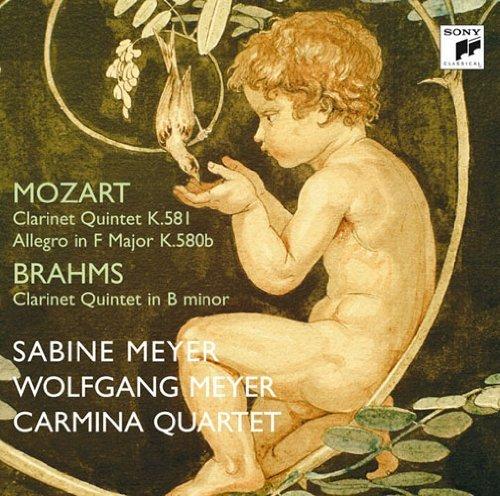 Sabine Meyer & Wolfgang Meyer - Mozart: Clarinet Quintet K.581, Allegro F Major, K.580B / Brahms: Clarinet Quintet In B Minor, Op.115 [Japan CD] SICC-1416 by Sabine Meyer & Wolfgang Meyer Japan Allegro